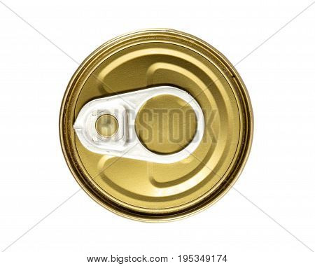 cap lock of can on isolated background