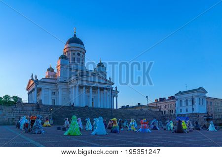 Senate Square And The Lutheran Cathedral, In Helsinki