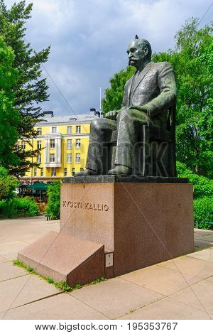 Monument Of Kyosti Kallio In Helsinki