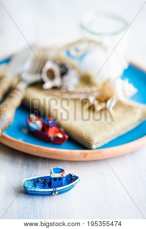 Summertime Marine Table Setting