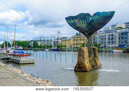Harmonia Fountain Sculpture In Turku