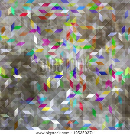 Seamless bright pattern of silvery color. Background for the design of the surface. Abstract geometric wallpaper.