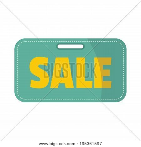 Plastic flat signboard with text sale for your design vector illustration isolated on white background flat sign for city advertising