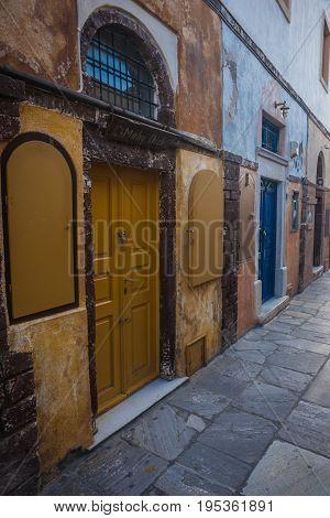 Cityscape Of Oia Town, Santorini Island, Greece