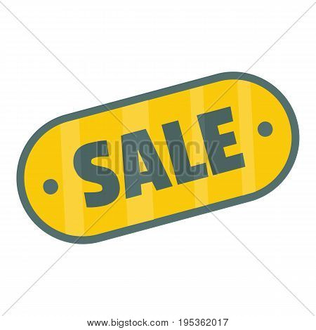 Flat label with text sale for your design vector illustration isolated on white background Flat label sign for city advertising
