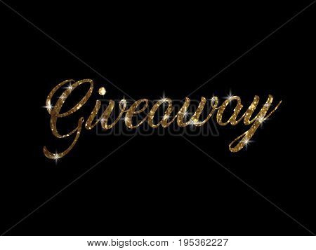 Golden Glitter Of Isolated Hand Writing Word Giveaway