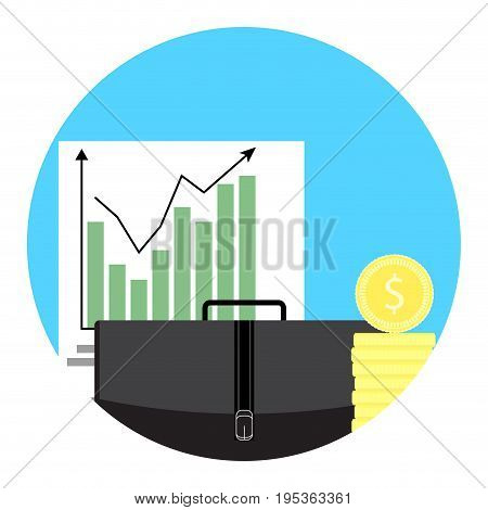 Growth of exchange trend. Exchange trade swap and money exchange vector stock exchange give and take illustration