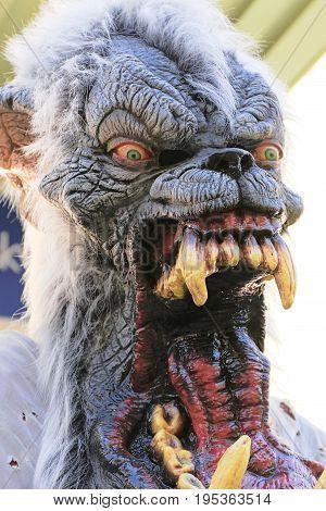 statue of Halloween monster. Halloween. Horror nights.
