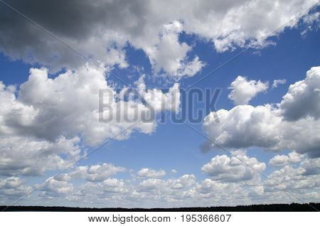 Clouds in the stormy sky natural wallpaper background high resolution photo