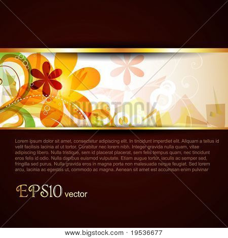 abstract vector stylish eps10 template poster