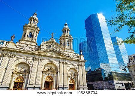 Plaza de Armas, main square of Chile capital city, Santiago de Chile, Chile