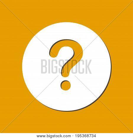 Question mark sign icon. Help symbol. FAQ sign. Flat design style.