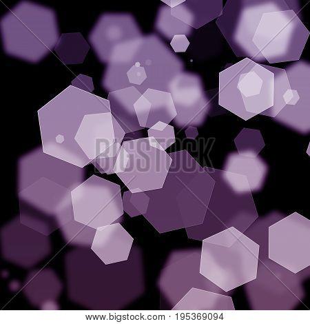 Pink Violet Hexagon Bokeh Effect Abstract Texture Background Design