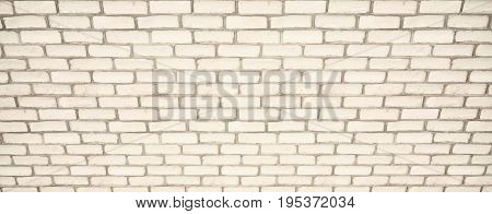 White brick wall for background. 3D illustration