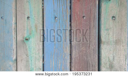 Old Color Wood Planks Texture. Tree Background. Batten