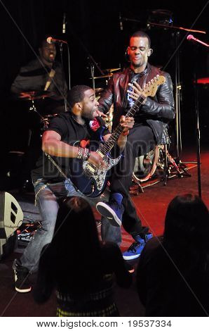 TOKYO - DECEMBER 6: Grammy nominated R&B singer Mario (Dewar Barrett) performs with Curt Chambers at the Billboard Live Club on December 6, 2008 in Tokyo.  Mario's 4th album is due out in early 2009.