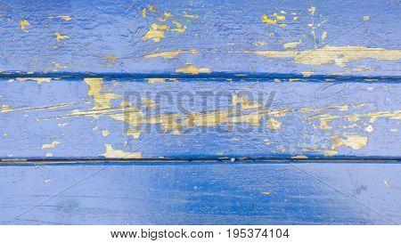 Old Blue Wood Planks Texture. Tree Background. Batten