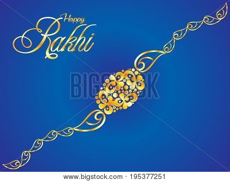 abstract artistic blue raksha bandhan background vector illustration