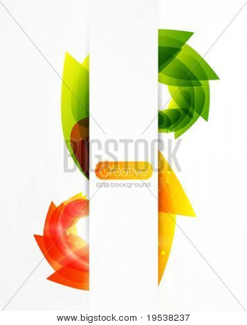 Vector abstract flower background