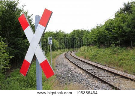 St Andrew's Cross; - Warning signal, which can be found in front of each railway crossing