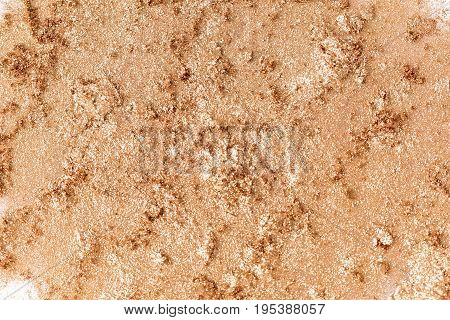 texture of crushed eye shadow isolated on the white background