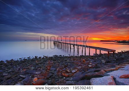 Beautiful Sunrise View At Fisherman Jetty