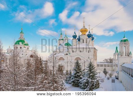 The ancient Russian city of Rostov Veliky in winter