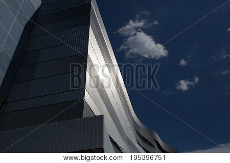 Main building of Danube Arena modern architecture Budapest Hungary