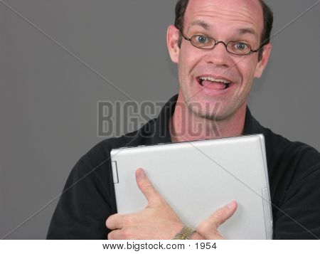 Happy Laptop Guy