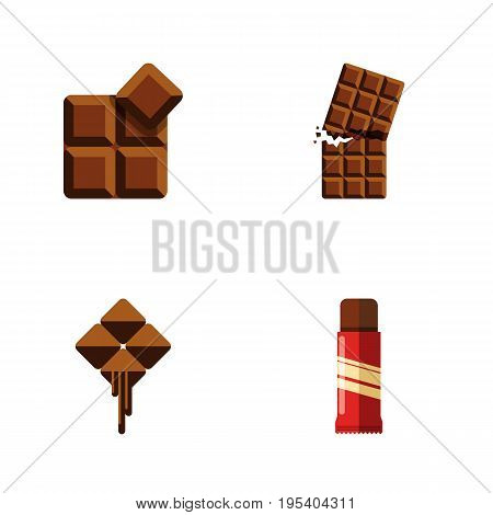Flat Icon Sweet Set Of Cocoa, Delicious, Sweet And Other Vector Objects. Also Includes Cocoa, Dessert, Confection Elements.
