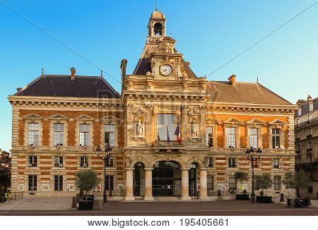 The Town Hall of the XIX-th district in Paris, France