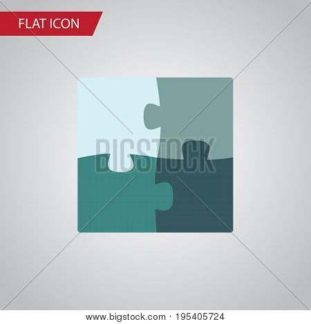 Isolated Puzzle Flat Icon. Jigsaw Vector Element Can Be Used For Jigsaw, Puzzle, Enigma Design Concept.