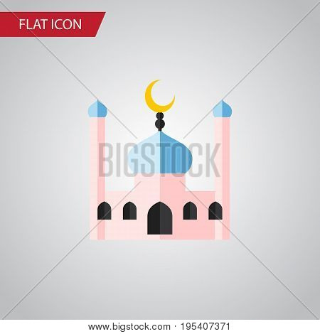 Isolated Traditional Flat Icon. Muslim Vector Element Can Be Used For Muslim, Traditional, Minaret Design Concept.