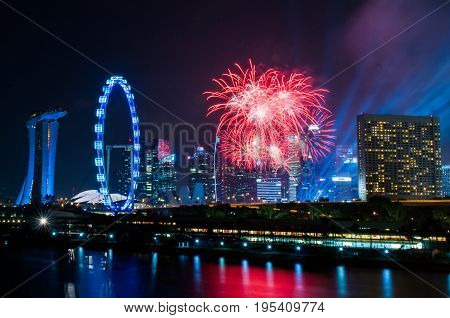 2017-07-15 Singapore national day fireworks display rehearsal