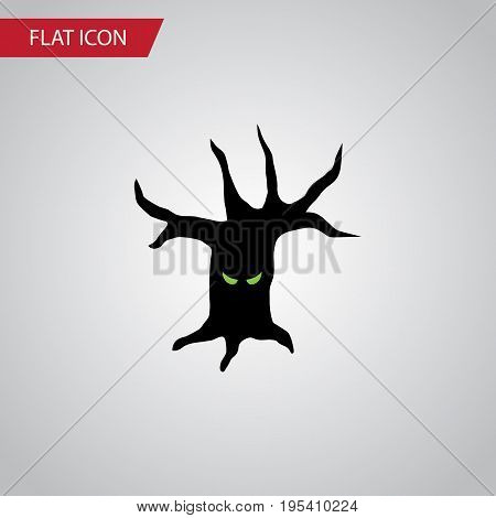 Isolated Tree Monster Flat Icon. Terrible Halloween  Vector Element Can Be Used For Tree, Monster, Terrible Design Concept.