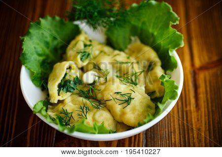 Dumplings Stuffed With Potatoes With Green Onions