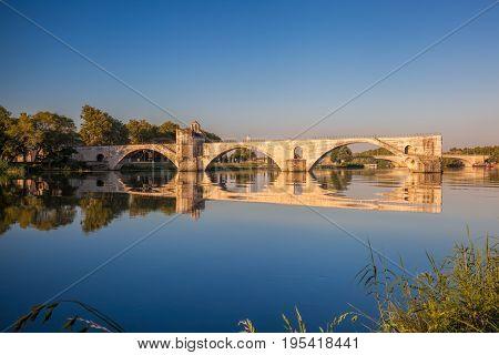 Famous Avignon Bridge in Avignon Provence France