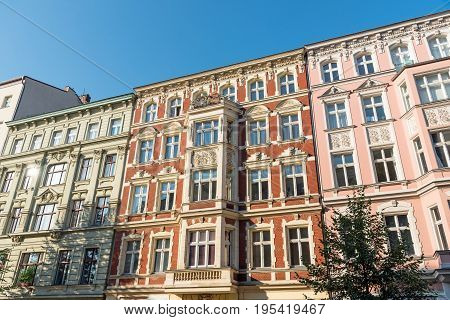 Nice restored old house at the Prenzlauer Berg district in Berlin
