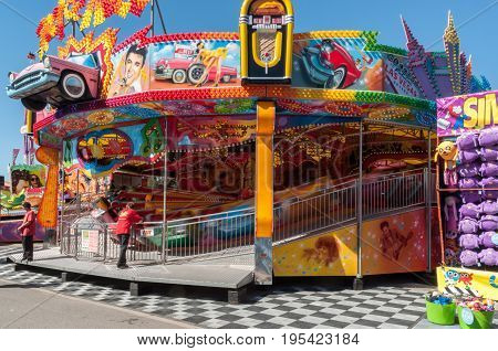 Adelaide, SA, Australia - September 07, 2016: Showground ride at the Royal Adelaide Show, Adelaide's annual agricultural show.