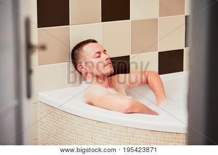 Contemplation In The Bathroom