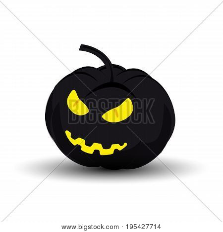 Icon evil pumpkin on Halloween. Vector illustration for a site