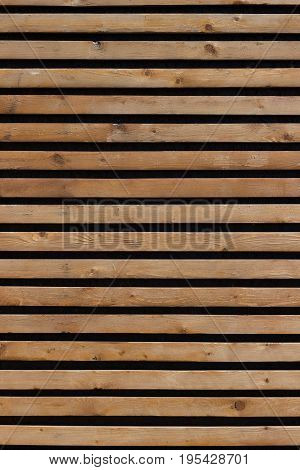 Horizontal background of wooden boards varnished .