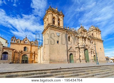 Cathedral Church In Plaza De Armas Cuzco, Peru