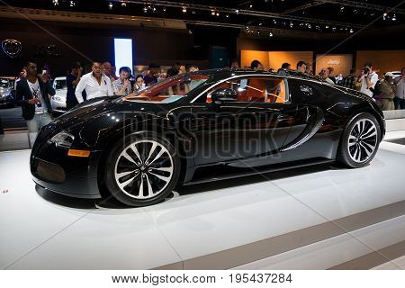 Bugatti Veyron Sang Noir Sports Car