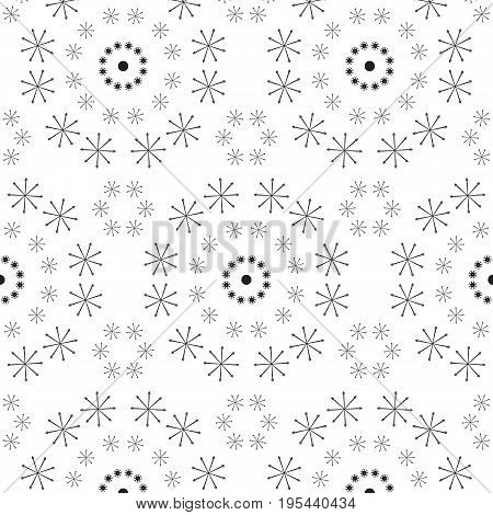 Abstract seamless pattern of a circular form of black color.Background for broad application with a possibility of change.Vector illustration.