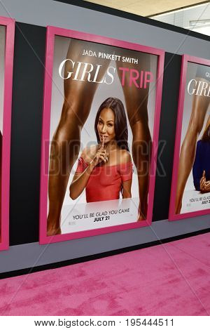 LOS ANGELES - JUL 13:  Girls Trip Poster of Jada Pinkett Smith at the