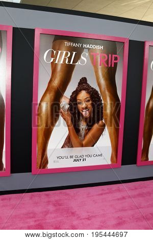 LOS ANGELES - JUL 13:  Girls Trip Poster of Tiffany Haddish at the