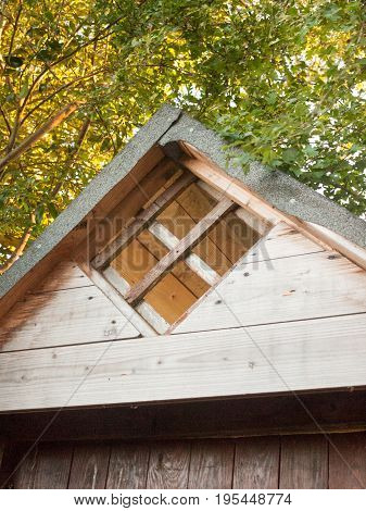 Top of A Wooden Shed Structure Ornate; Essex; UK