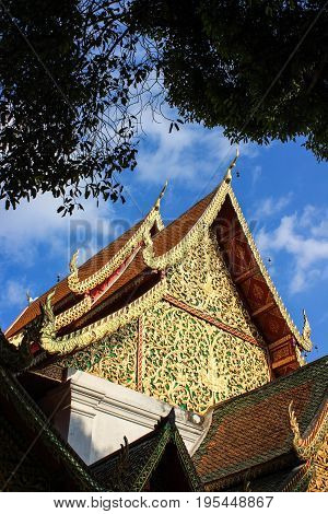 Wat Phra Singh is a Buddhist temple in Chiang Mai Northern Thailand.