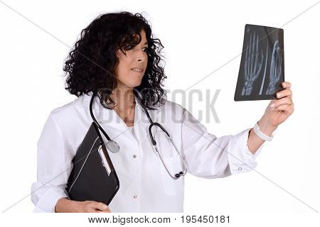 Medical Doctor Woman With Xray.